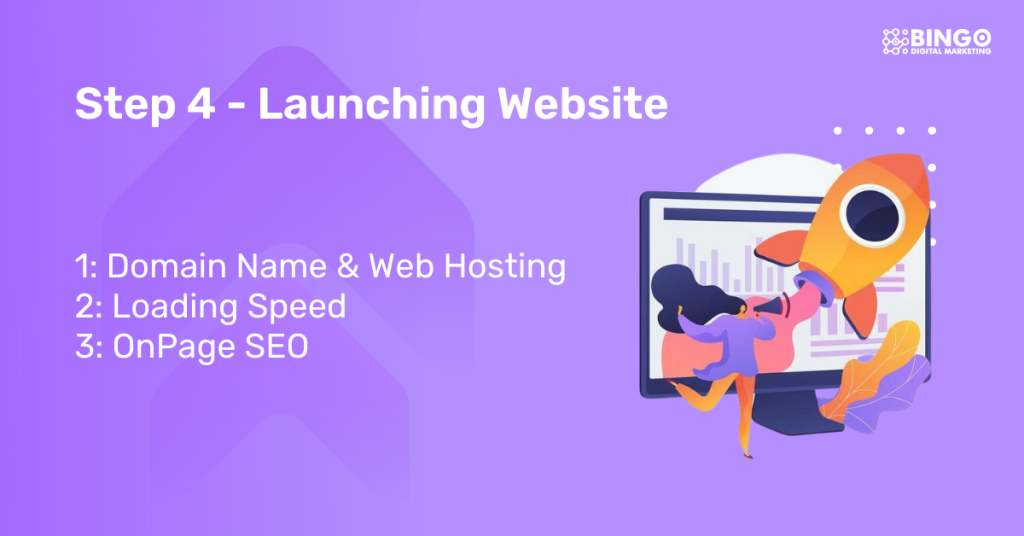 step 4 launching the website